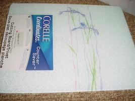 Corelle Shadow Iris Counter Saver Glass Cutting BOARD12x15 Inch New Free Ship Us - $37.39