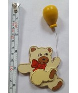 Vintage woodeBEAR WITH BALLOONS Cake Topper, Bakery Crafts Decoration, B... - $10.21