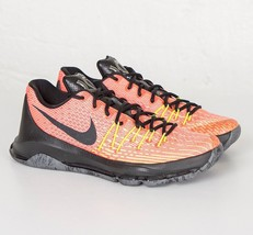 Nike KD 8 Hunts Hill Sunrise Crimson Orange Black 749375 807 Mens Size 8 - $114.95