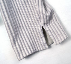 Giorgio Armani Black Label Raise Stripe Silver Grey Jacket Womens 38 Italy image 8
