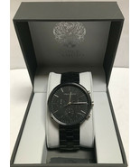 Vince Camuto VC/1098BKTB Mens Black Stainless Steel Chrono Watch  - $86.98