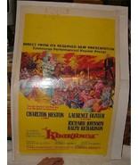 1966 KHARTOUM Movie Poster Window Card Charlton Heston Laurence Olivier - $25.00