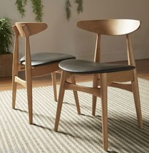 2 Pc Norwegian Danish Side Chairs Dining Mid Century Modern Accent Retro... - $196.02