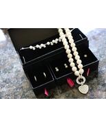 Pearl Heart Necklace w/ Earring Set Avon - $26.95