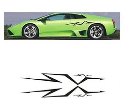 "New Car Stickers Car Door Decal Engine Hood Stickers BLACK (About 39.4""x5.9"")"