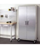 Rolling Storage Cabinet Metal Locking Doors Stainless Steel Garage Tools... - $395.95