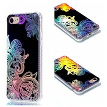 iPhone 7 Case,iPhone 8 Case,XYX [Totem Flower] Colorful plating Transpar... - $3.95