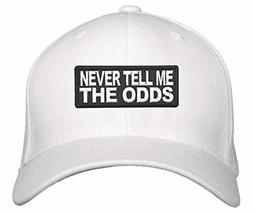 Never Tell Me The Odds Hat - Star Wars Han Solo Quote (White) - $17.05