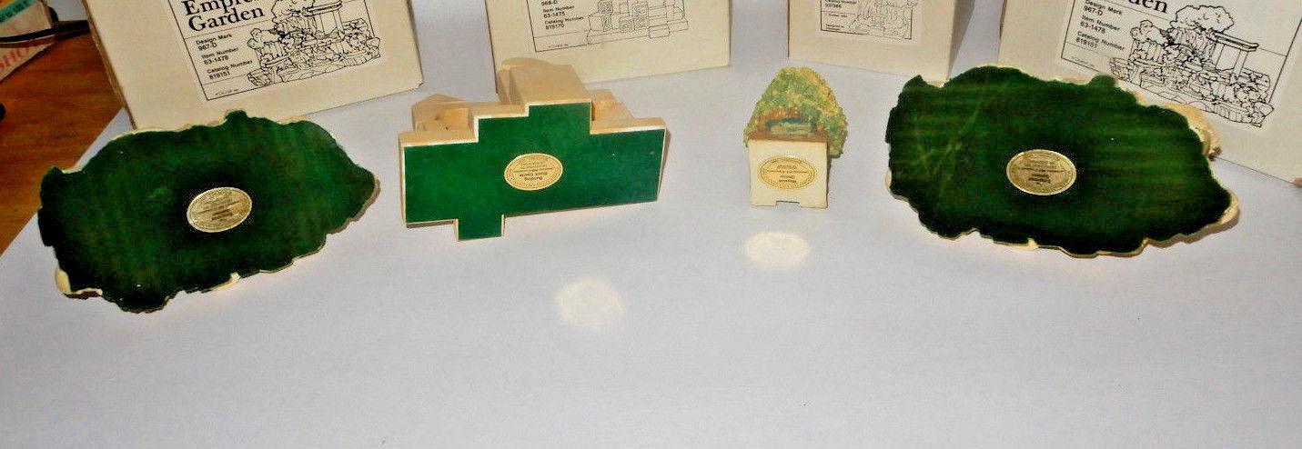 (4) GOEBEL PIECES WAYSIDE SHRINE-2 EMPRESS GARDEN-BUILDING BLOCK CASTLE OLSWESKI