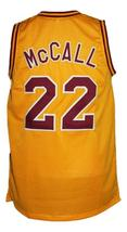 McCall #22 Love And Basketball Movie Jersey New Sewn Yellow Any Size image 2