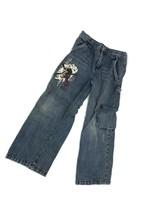 Disney Store Pirates Of The Caribbean Boys Blue Denim Carpenter Jeans Size 7 - $16.68