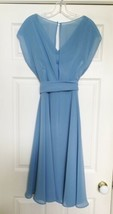 After Six Bridesmaid Dress Style 6661 Sz 14 Windsor Blue Dessy Collection Lined image 2
