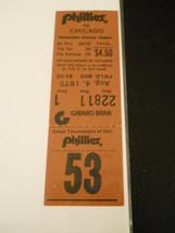 1975 Phillies vs. Chicago Cubs Ticket Stub - Steve Stone Wins (SKU1) - $9.49