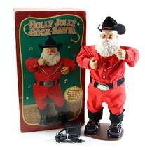 "Vintage 1999 Holly Jolly Rock Animated Dancing 17"" Santa Alan Jackson Ch... - $26.99"