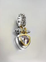 NEW Designer BALINESE Silver Caviar Dots Gold Lavender Crystal Petite Pendant - $29.99