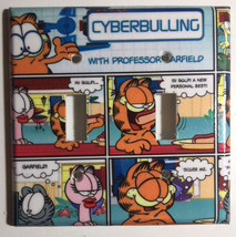 Garfield cat Cyber Comics Light Switch Outlet Toggle Wall Cover Plate Home Decor image 2