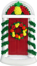 Door with Wreath Personalized Christmas Tree Ornament - $14.95