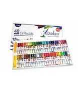 Premium Oil Pastels 48 Assorted Colors Non Toxic, Smooth Blending Textur... - $9.84