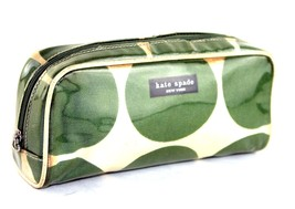 Authentic KATE SPADE New York PVC Green & White Cosmetic Clutch Pouch Purse - $64.45 CAD