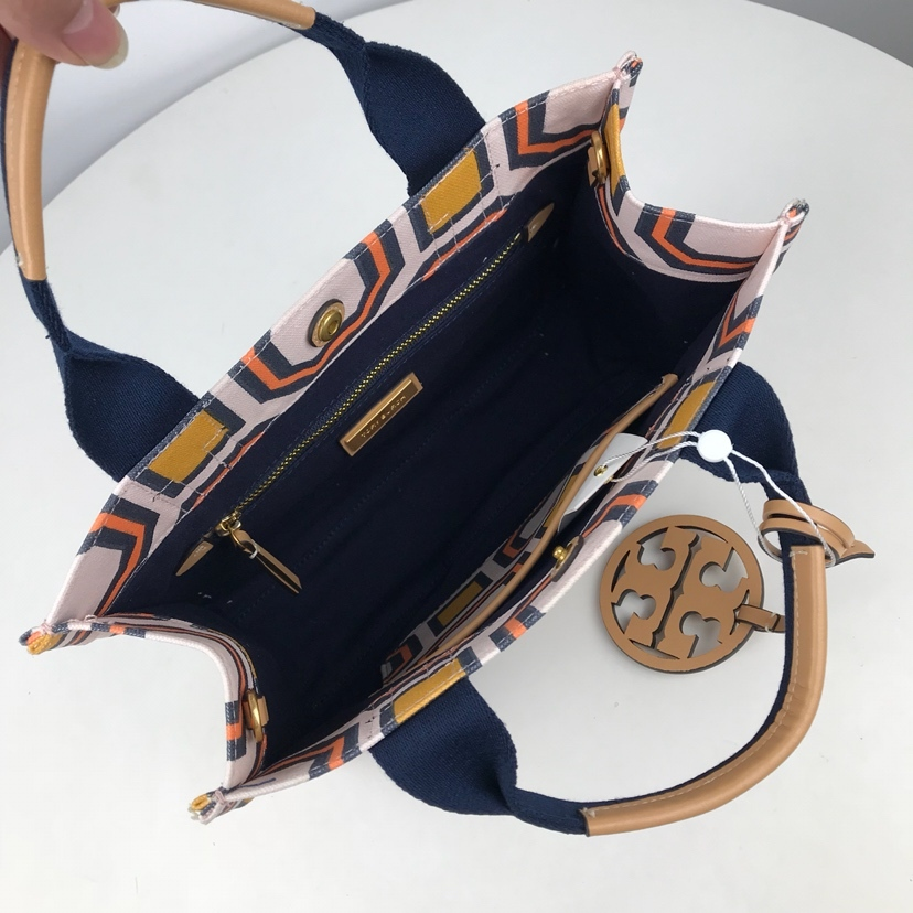 Tory Burch OCTAGON Print Mini Tote in Ballet Pink