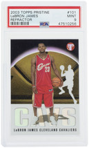 Lebron James 2003 Topps #101 Cavaliers Pristine Refractor Rookie Card PSA 9 - $4,849.99