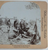 1898 antique stereoview SPANISH AMERICAN WAR SOLDIERS PLAYING CARD GAME ... - $42.50