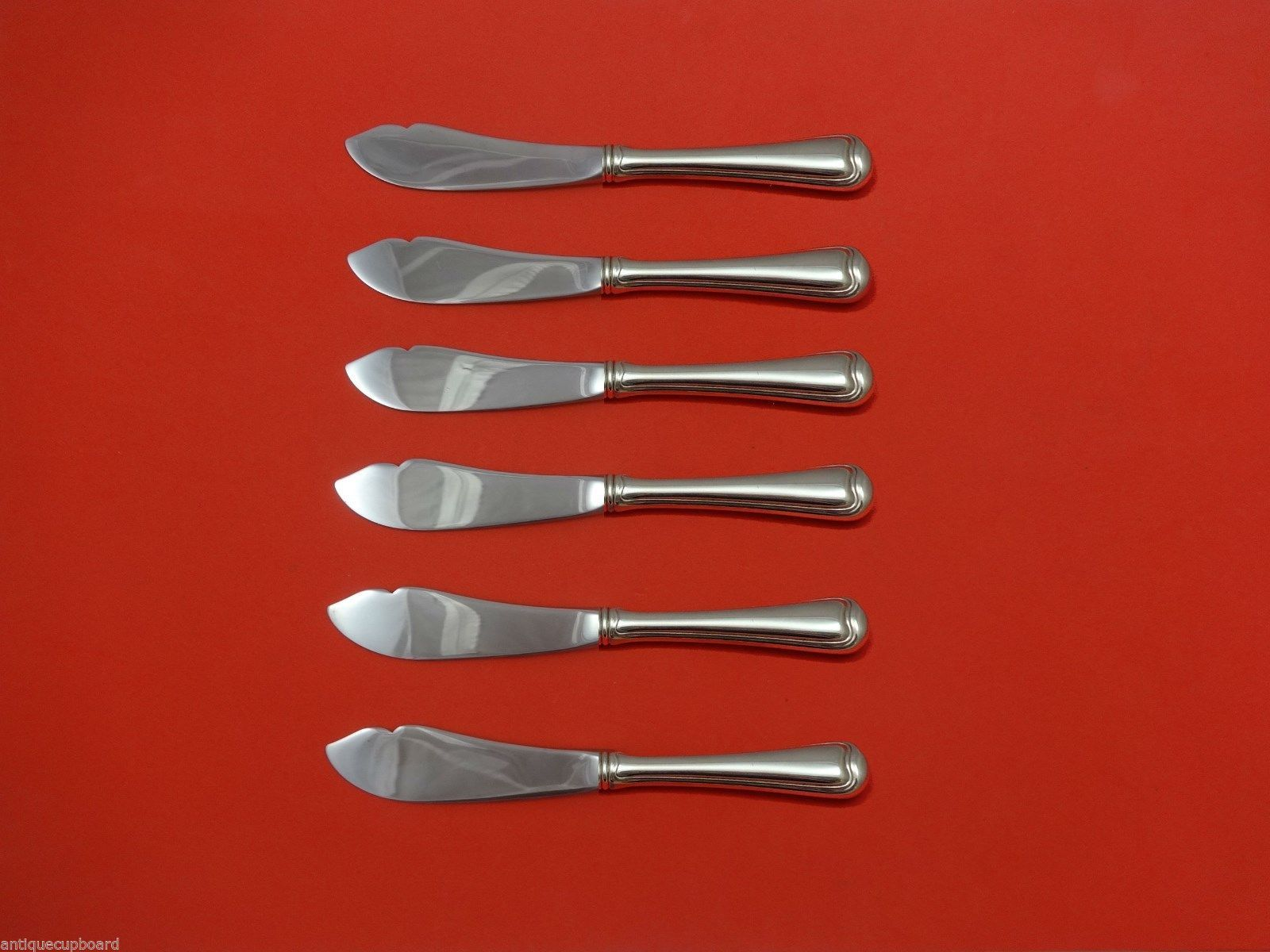Primary image for Old French by Gorham Sterling Silver Trout Knife Set 6pc. HHWS  Custom 7 1/2""