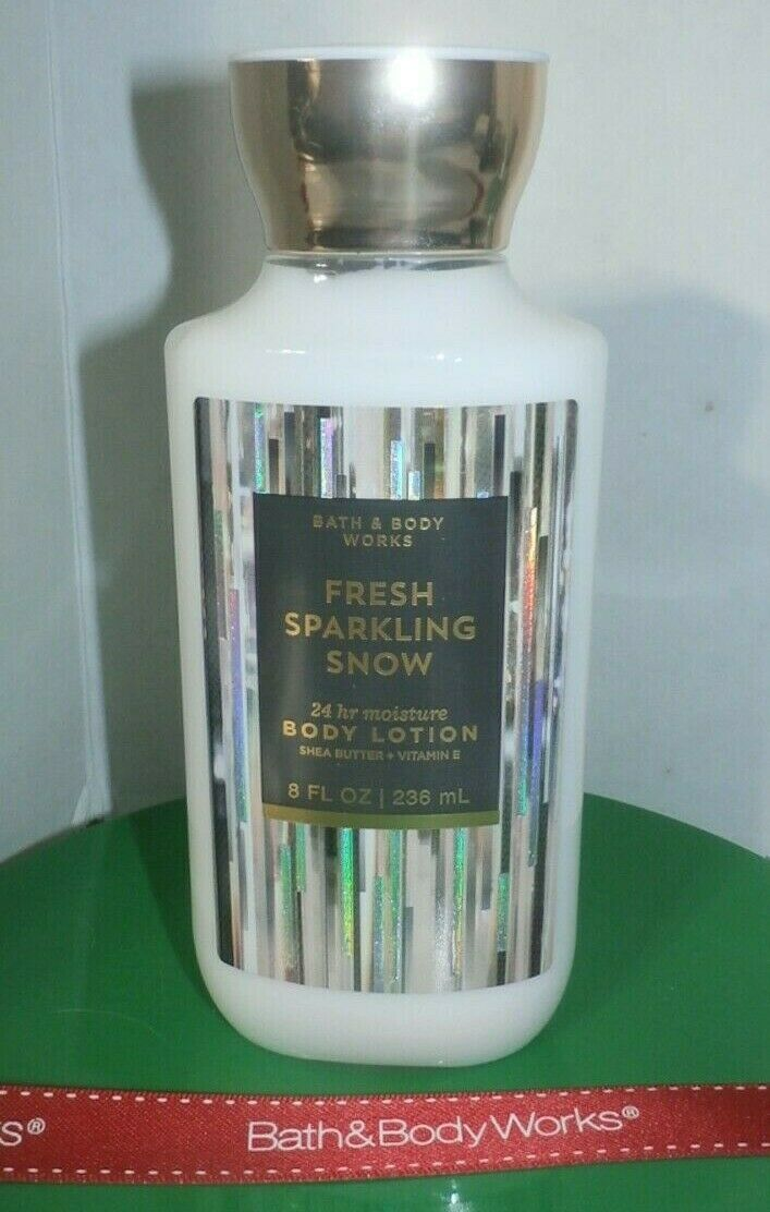 Primary image for Bath and Body Works Fresh Sparkling Snow Body Lotion 24 hour Shea 8oz NEW