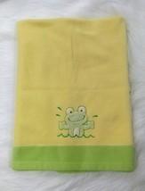 Blankets & Beyond Frog Baby Blanket Green Yellow Fleece 30x36 Boy Girl B414 - $24.94 CAD