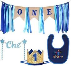 Maticr Baby Boy 1st Birthday Decorations First Birthday Highchair Banner Cake Sm - $30.49