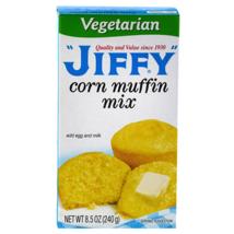 4Pk Vegetarian Jiffy Corn Bread Muffin Baking Mix 8.5 oz ~ FAST FREE SHIPPING !  - $11.76