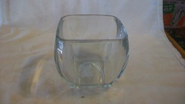 Rectangular Clear Glass Candy Dish or Flower Pot, Trinket holder - $25.98