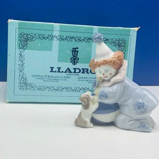 Primary image for Lladro Nao figurine clown circus carnival Spain box 5278 Pierrot dog ball statue