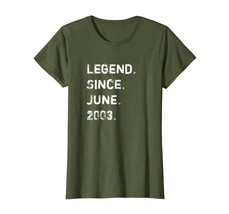 Brother Shirts - Legend Since June 2003 15 Years Old Birthday Gift Shirt... - $19.95+