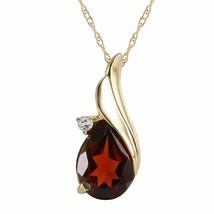 14 Karat Gold Diamond Garnet Certified Pendant - $484.15