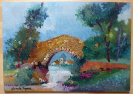 Romantic View Countryside Painting Vintage Signed Painter V.Segura Spain... - $164.73