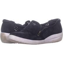 AK Anne Klein Sport Yvette Sneaker Oxford Flats 522, Navy, 8.5 US - $31.67