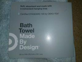 "Solid Bath Towel - Made By Design- 30"" x 54""- Aqua Blue image 3"