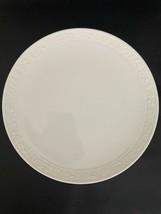 "Gorham Fine China FIDELIA Embossed White Dinner Plate 10"" EUC - $17.81"