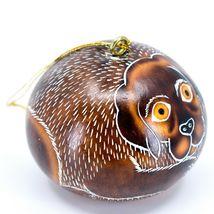 Handcrafted Carved Gourd Art Labrador Lab Puppy Dog Ornament Handmade in Peru image 4