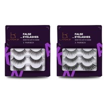 False Eyelashes Pack 3D Black Soft Natural Long Fake Thick Eye Lashes St... - $19.63