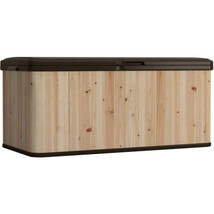 Large Outdoor Storage Box  Wood And Resin Patio... - $219.09