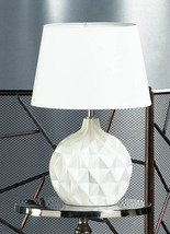 Bedside Table Lamps, White Ceramic Living Room Table Lamps Contemporary - $53.58