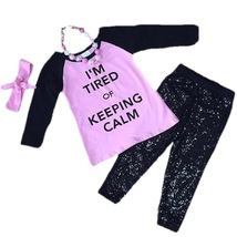 Cute Kids Clothing Toddler Girl/Girls I'm Tired Of Keeping Calm Outfit B... - $31.49