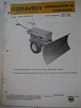 "Gravely Tractors original operator's manual 1978 48"" snowdozer 21466 bla... - $7.38"