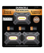 NEW Duracell 600 Lumen Worklight, 3-pack **FREE SHIPPING** - $34.99