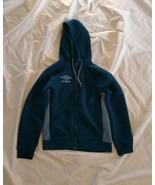 Umbro Men's Poseidon Coronet Blue Full Zip Hoodie Quilted Fleece Sweatsh... - $56.43