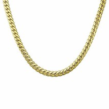 Three Keys Jewelry 9MM Wide 18K Gold Plated Mens Stainless Steel Necklac... - $23.60