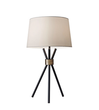 Adesso 3834-01 Benson Table Lamps 15in Black with Antique Bronze Accent 1-light - $130.00