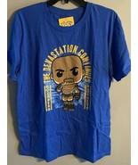 NWT Funko Pop Goldberg The Devastation Continues WWE T-Shirt Blue Size L... - $19.78